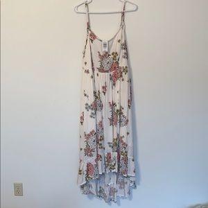 Torrid Plus Ivory Floral Maxi Low Hi Dress NWT